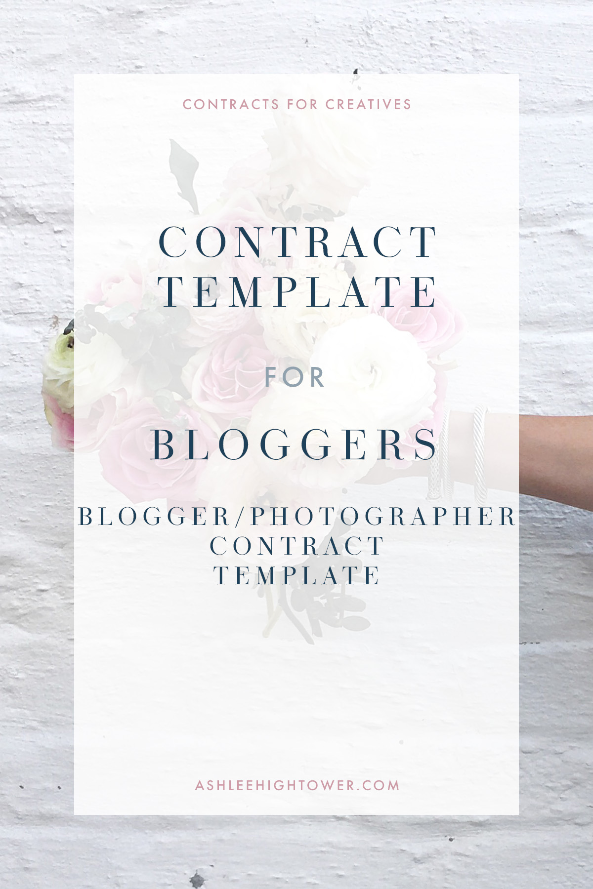 Blogger + Photographer Contract | Contract for Bloggers | Ashlee Hightower