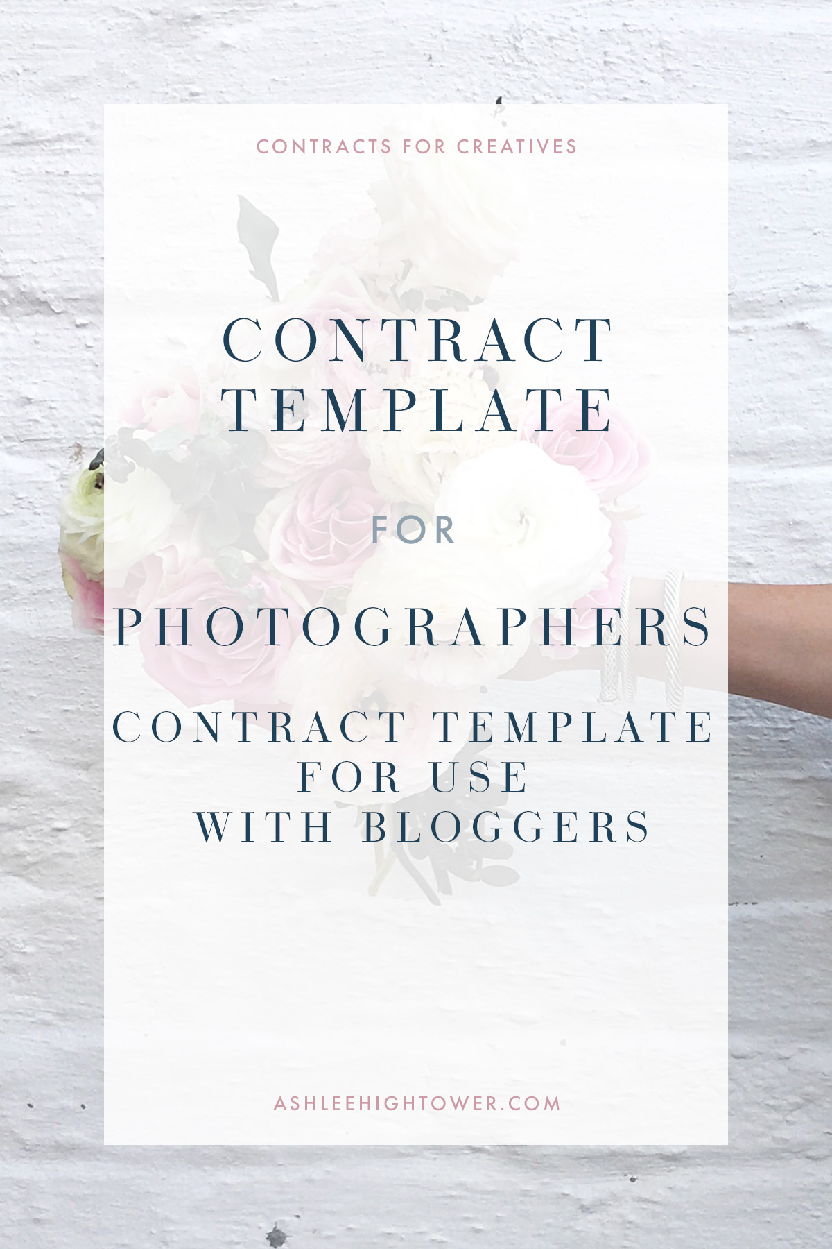 Contracts for Creatives | Photographer_Contract_Template_for_Use_with_Bloggers | | Photographer Contracts | Ashlee Hightower