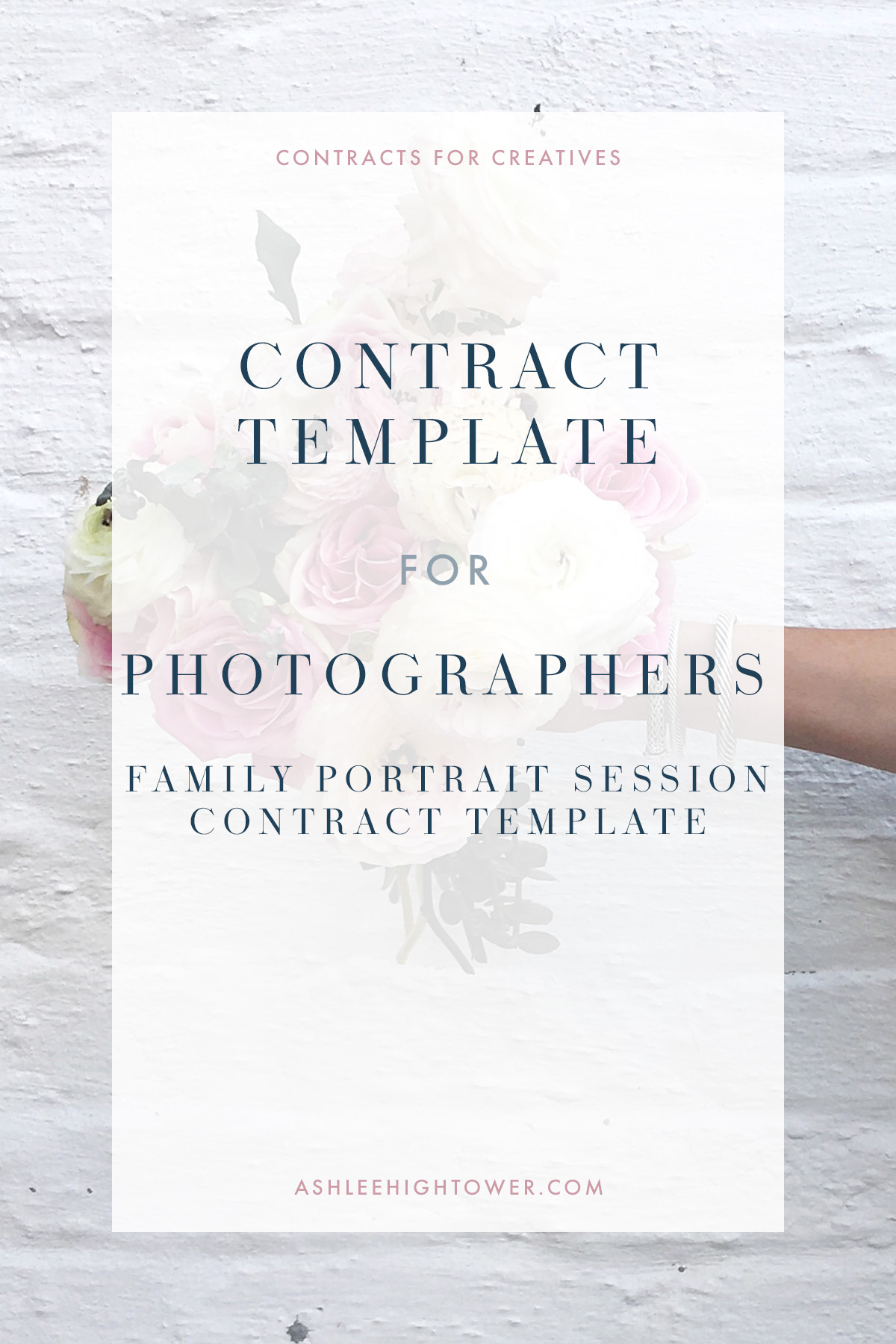 Family Portrait Session Contract | Contracts for Creatives | Ashlee Hightower